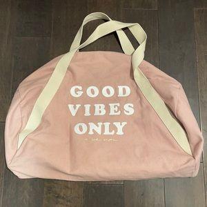 Pink cotton gym bag by Spiritual Gangster